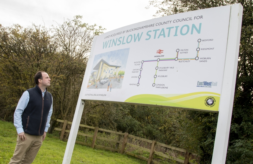 East-West Rail, running along existing mothballed tracks, with a station at Winslow, is good news for Buckinghamshire