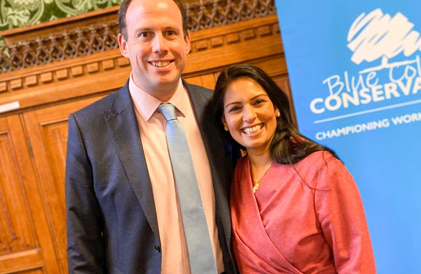 Greg Smith MP with Home Secretary, the Rt Hon Priti Patel MP