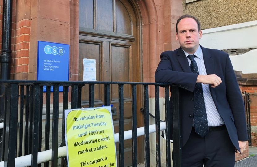 Greg outside TSB branch threatened with planned closure next year